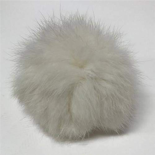 rabbit white pompom (5cm) / pair