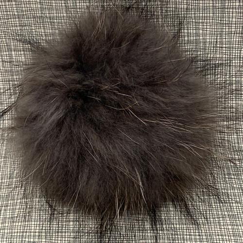 XL raccoon grey pompom (15 cm)