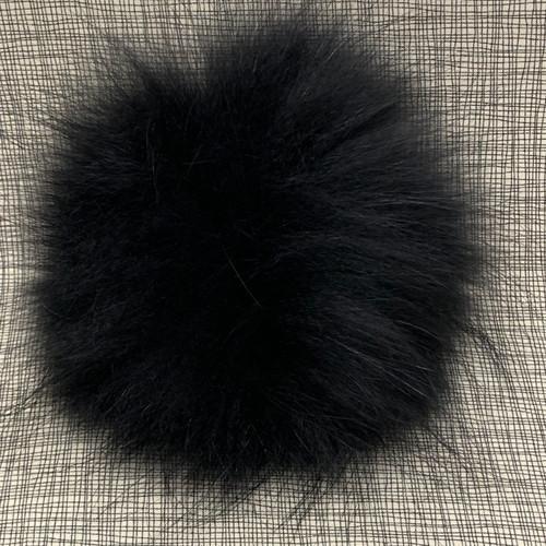 XL raccoon black pompom (15 cm)