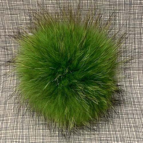 XL raccoon green pompom (15 cm)