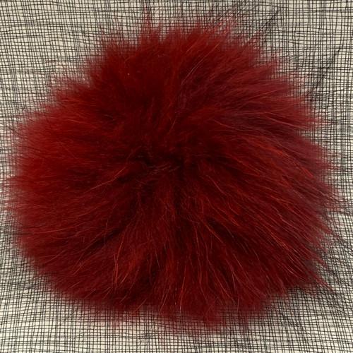 XL raccoon red pompom (15 cm)
