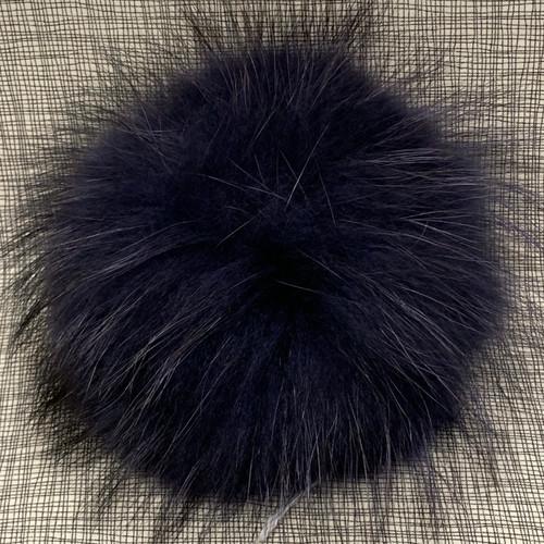 XL raccoon periwinkle navy pompom (15 cm)