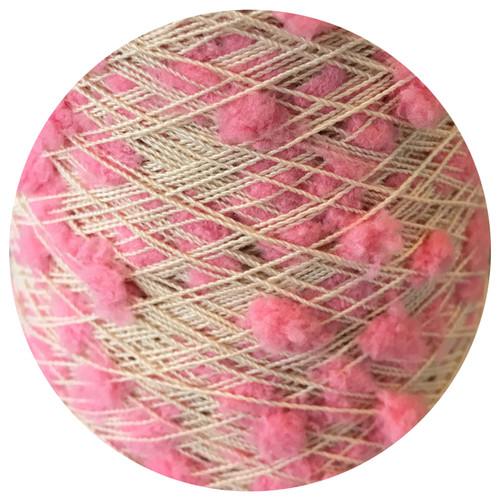 Pink Oshare Pon Pon Yarn