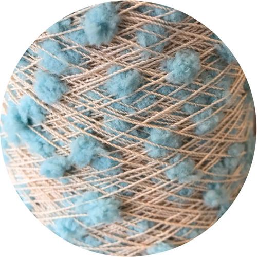 Blue Oshare Pon Pon Yarn