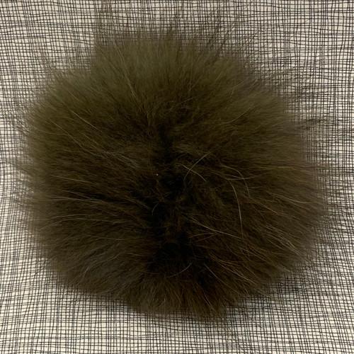 XL raccoon olive pompom (15 cm)