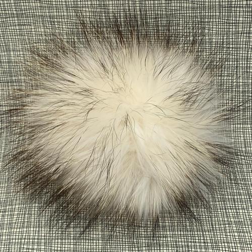 XL raccoon natural pompom (15 cm)