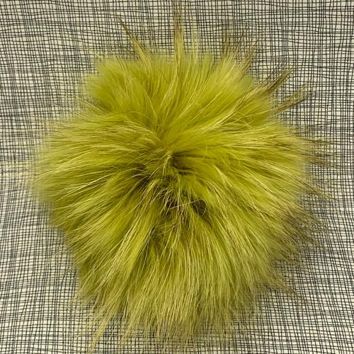 XL raccoon mustard pompom (15 cm)