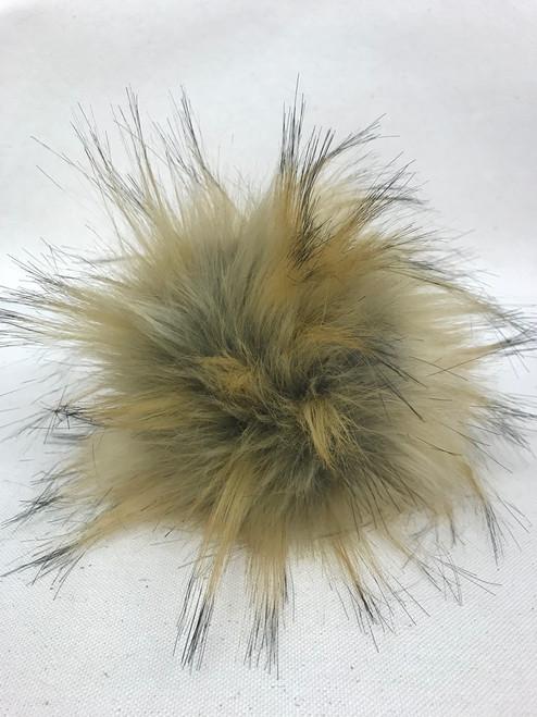 faux pompom caramel (13-15 cm)
