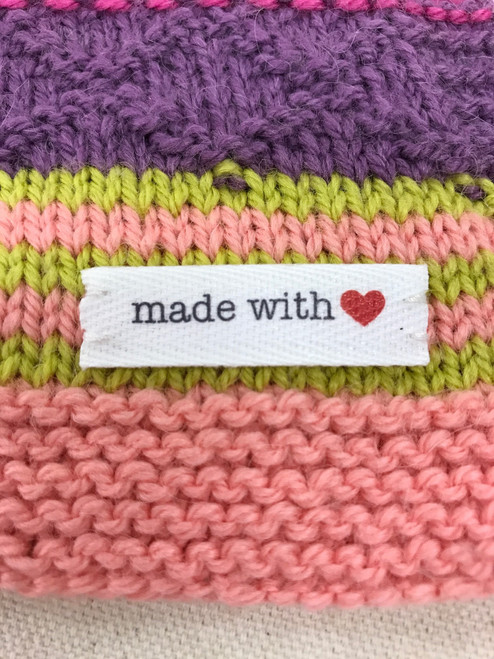 'made with love' sewn-in tag