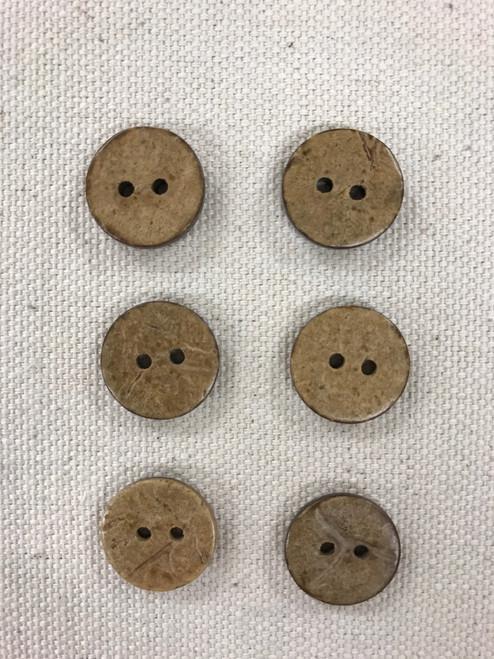 coconut shell button - 5/8 inch / 15 mm