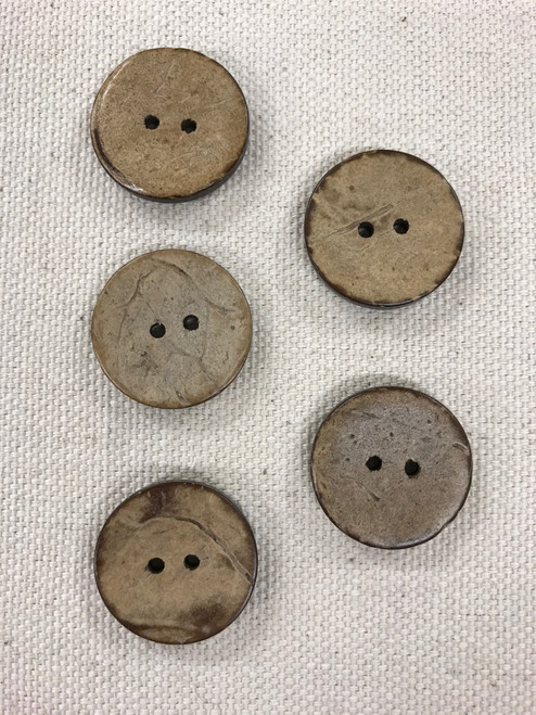 coconut shell button - 3/4 inch / 20 mm
