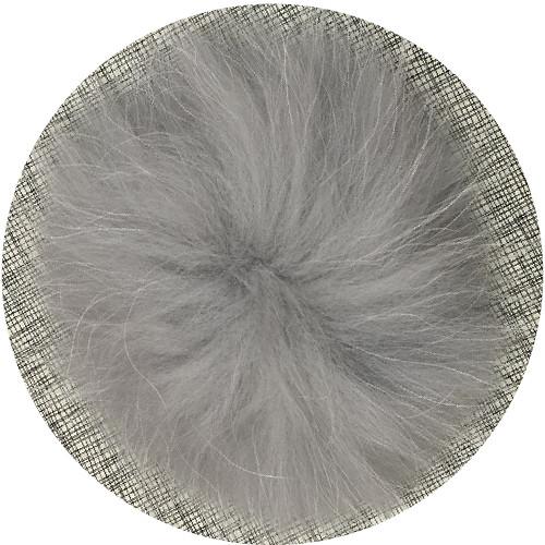 XL raccoon light grey pompom (15 cm)