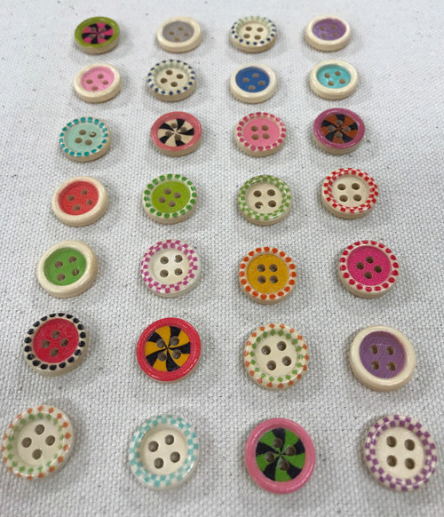 candy button - 5/8 inch / 15 mm