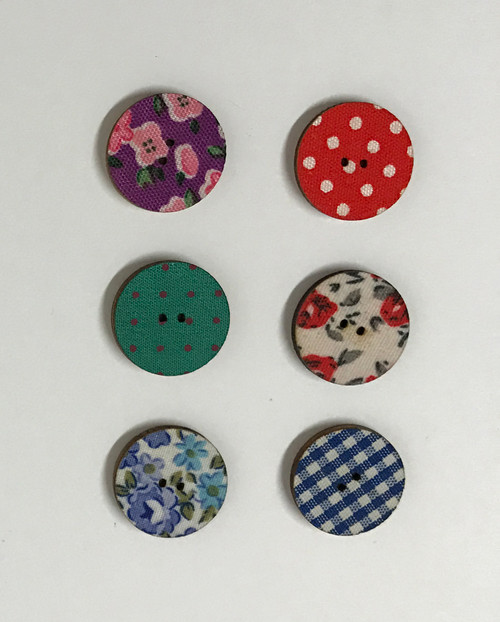 cloth button - 3/4 inch / 20 mm
