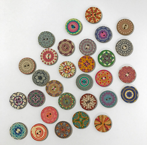 fine china button - 1 inch / 25 mm