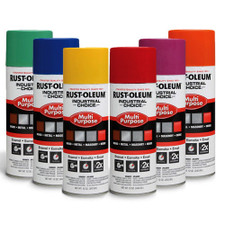 Rust-oleum industrial choice enamel spray paint - Upright nozzle
