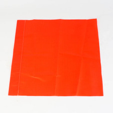 Red safety flag without staff