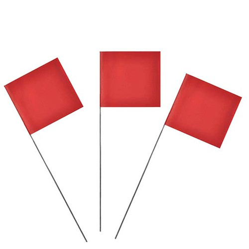Red Marking Flags
