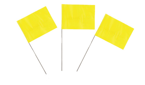 Yellow Marking Flags