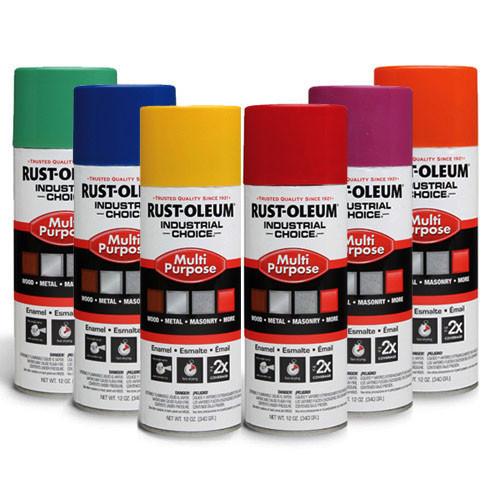 Rust-oleum industrial choice enamel spray paint - Upright nozzle