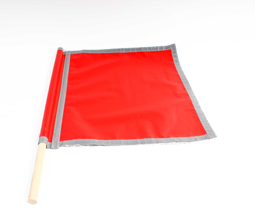 Safety Glo Flag - True Red w/ Reflective Boarders