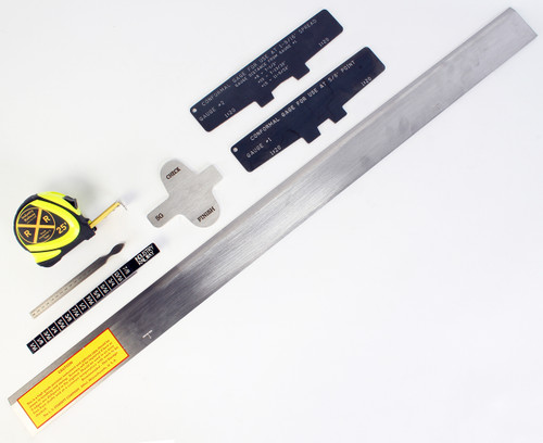 7-Piece Weld Auditing Straight Edge Kit w/ Tape Measure