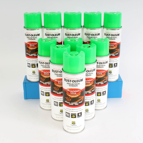 Industrial Choice Enamel Spray Paint - Flourescent Green-Inverted