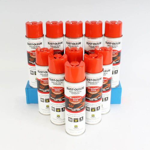 Alert Orange Industrial Choice Enamel Spray Paint with inverted nozzle