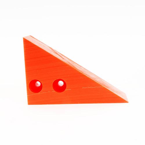 Wheel Chock - Safety Orange