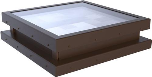 Flat Glass Fixed Curb Mount Skylight