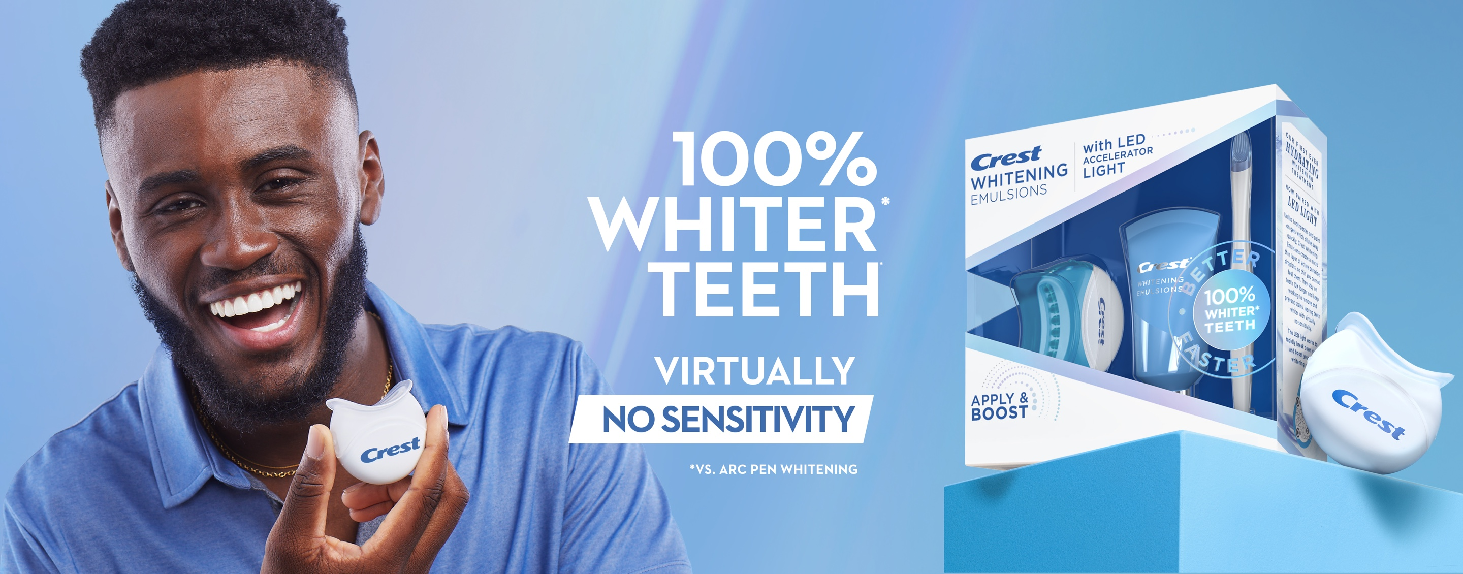 100% Whiter Teeth Virtually no sensitivity