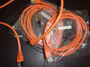 Cat5e Patch Cable, Orange, 5ft