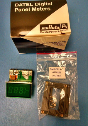 DCA-20PC-6-DC4-GS-C Murata Digital Panel Meters 0-19.99A input range 3 1/2 Digit