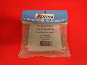 Hurricane hardware HEX Track Bolts 1/4-20 X 1-14 part 170-955