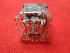 KRP-11AY-120 POWER RELAY, DPDT, 120VAC, 5A, PLUG IN; Product Range:TE (1 PER)