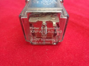 KRPA-14AG-240 POWER RELAY, 3PDT, 240VAC, 10A, PLUG IN (1 per)