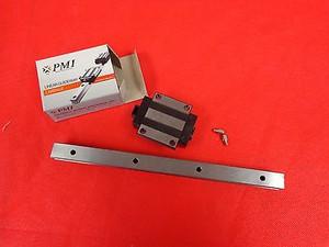 "15mm 8.5"" Rail Guideway System Square Slide Unit Linear PMI MSA15ESSFCN (1 PER)"