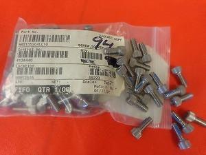 NAS1352C4LL10, SCREW HEX HEAD 1/4-20X5/8 SS NYLK NSN 5305009847111 (94 PER)