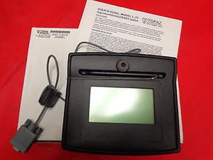NEW Topaz Signature Capture Pad Tablet NEW Topaz Sig SignatureGem 4X3LCD RS232