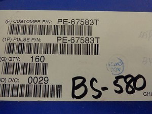 PE-67583T TELECOM TRANSFORMER 10dB SMD PULSE (20 pcs)