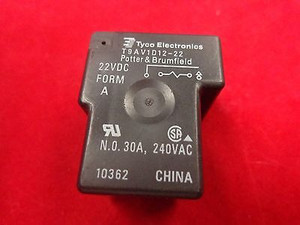 T9AV1D12-22 4-1393210-4 TE CONNECTIVTY POWER RELAY SPST-NO 22VDC, 30A, PC BOARD