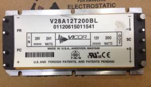 V28A12T200BL VICOR CONVERTER MODULE DC/DC 12V 200W (1 PER)