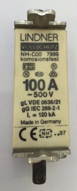 VDE0636/21 Lindner 100A, 500V Module (1 Per)