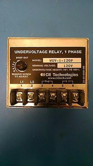 WUV-1-120P, =WILMAR UNDERVOLTAGE 2-1618112-9 TE ALIAS by CII TECHNOLOGIES RELAY
