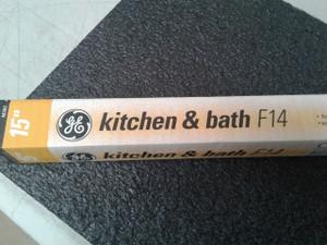 22979 GE F14T12/KB Bulb - 14W T12 Fluorescent Kitchen/Bath