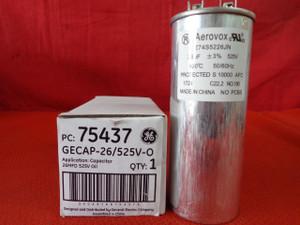 75437 GE Aerovox 26uF +-3% 525V 100C 50/60Hz GECAP-26/525V-O