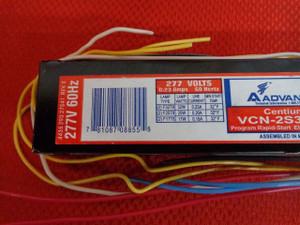F32T8 Electronic Ballast Program Rapid Start 277 Volts VCN-2S32-SC
