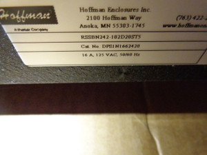 DPS1N1662420 Hoffman 24 outlet Satellite Power Strip, 66in, 20A 125V 66.00in PDU