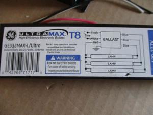 71717 GE Ultra-Max T8 Ballast GE332MAX-L/Ultra 3 Lamp 120-277V