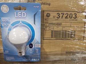 A15 Ceiling Fan Led Light Bulb, 530 Lumens GE 37203 6 Watts